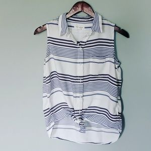 Beachlunchlounge Striped Tie Knot Top